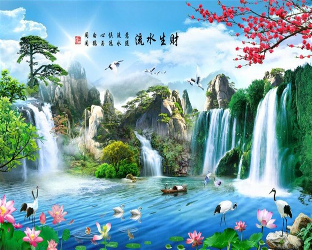 US $8 85 OFF Beibehang S Wallpaper Natural Landscape Waterfree Water Saving Modern Home Decor Wallpaper Papel De Parede 3d