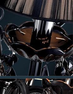 Image 4 - Lampadario moderno breve candela nera di cristallo lampada lampadario sala da pranzo lampade a luce con nero shades vendita diretta della fabbrica