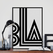 Minimalista negro blanco tipografía Vintage póster impresión cuadro abstracto lienzo pintura sin marco nórdico decoración del hogar pared arte regalo