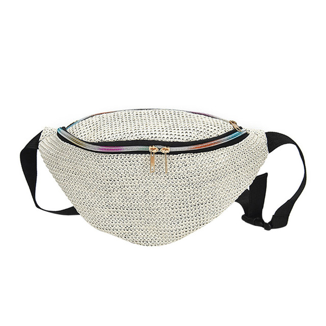 New Arrival Fashion Neutral Pure Color Weave Messenger Shoulder Bag Straw Pillow Chest Bag summer beach bag For Women Girls T