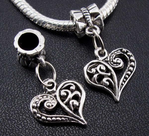 72 5 antique silver Joyeux Anniversaire Coeur Charms Pendentif ~ ~ embellissements chaînes
