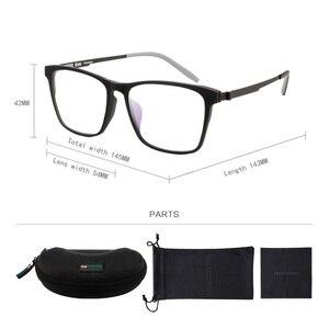 Image 5 - Reedoon Optical Eye Glasses Frame Ultralight Square Prescription Eyeglasses Plastic Titanium TR90 Frame Clear Lens For Men Women
