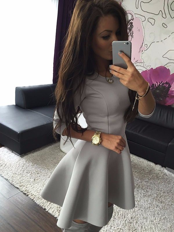 05a4dc76eb67 Fashion Women s 3 4 Sleeve Sexy Winter Evening Party Bodycon Mini Skater  Dress wholesale