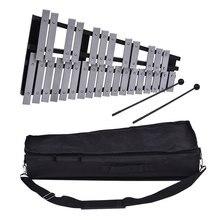 Складной 30 Note Glockenspiel деревянный ксилофон рамка алюминиевые стержни образовательный ударный музыкальный инструмент подарок