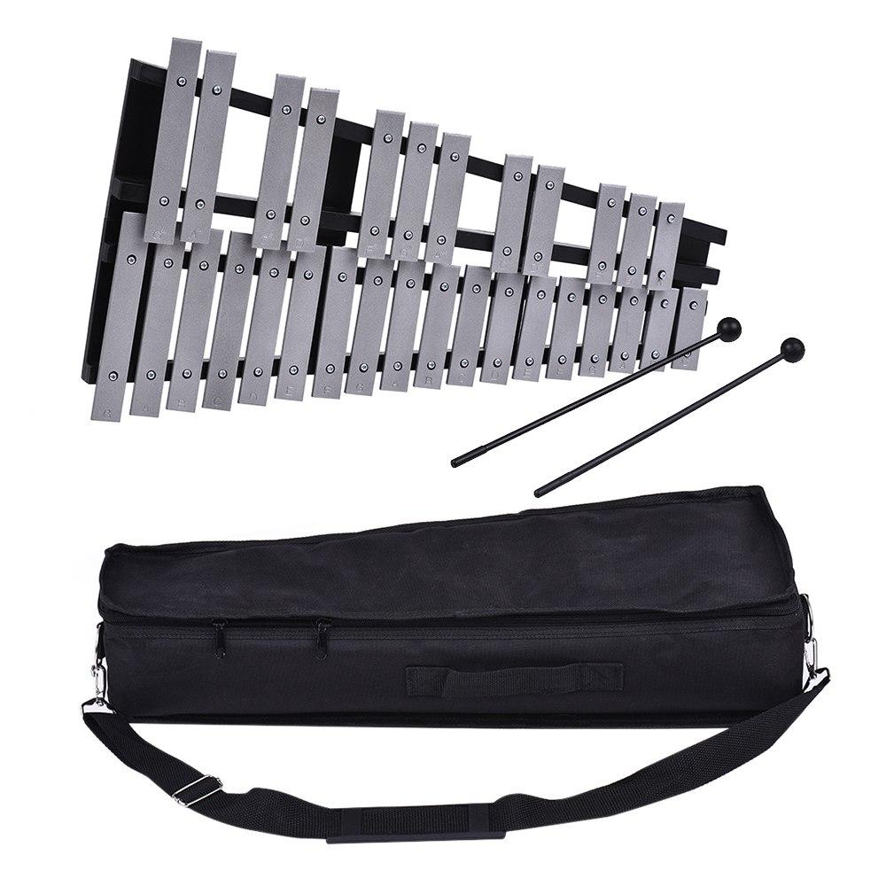 Pliable 30 Note Glockenspiel Xylophone cadre en bois barres en aluminium éducatif Percussion Instrument de musique cadeau