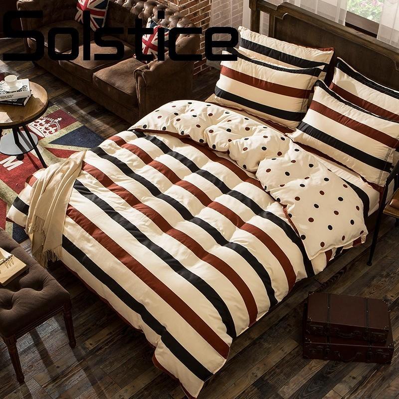 Solstice Home Textile Fashion Print Soft Skin Breathable Sheets Quilt Cover PillowCase Bedding 3/4pcs