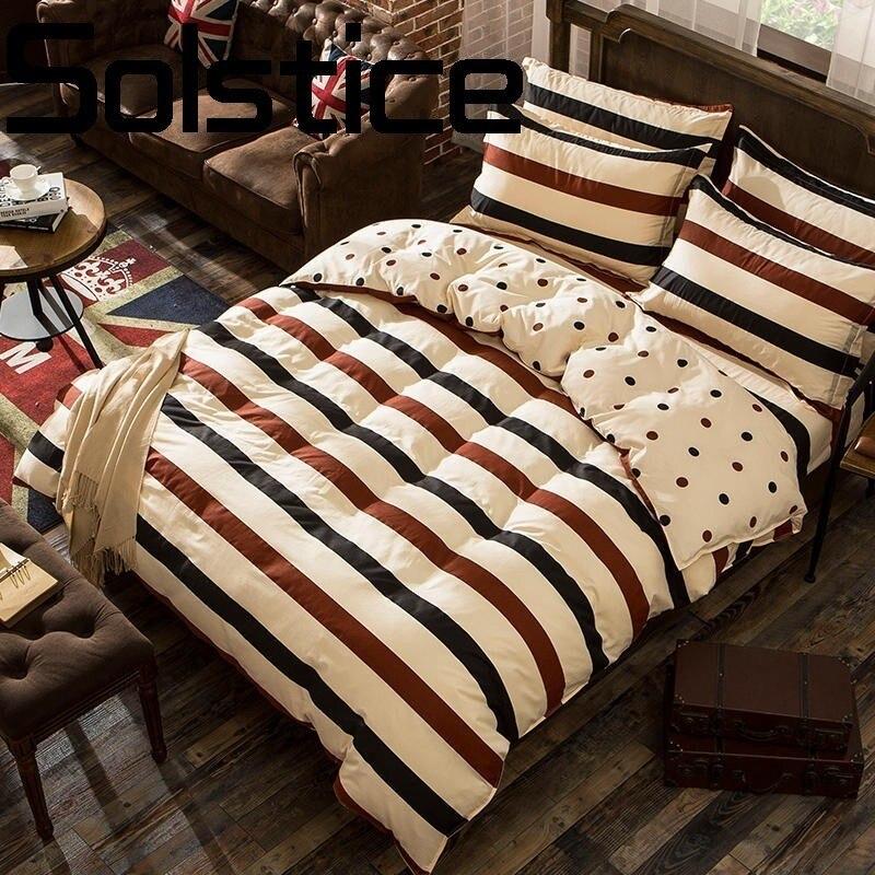 Solstice Textile de Maison Impression De Mode Peau Douce Respirant Feuilles Housse de Couette Taie D'oreiller Literie 3/4 pcs