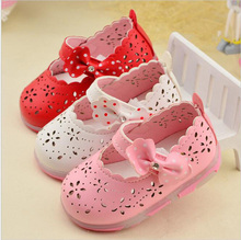 New Summer Baby Girl Sandals Bowtie Children Shoe Small Kids Sandale Fille Princess Girls Shoes Led Light Toddler Sandals Menina