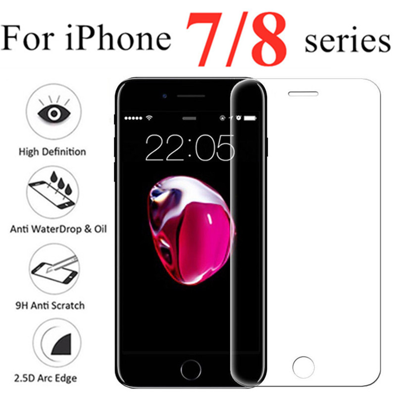 Verre trempé sur pour iphone 7 8 Plus Protecteur D'écran iphone 7 i7plus i8 verre trempe cristal templado ScreenProtector verre Film