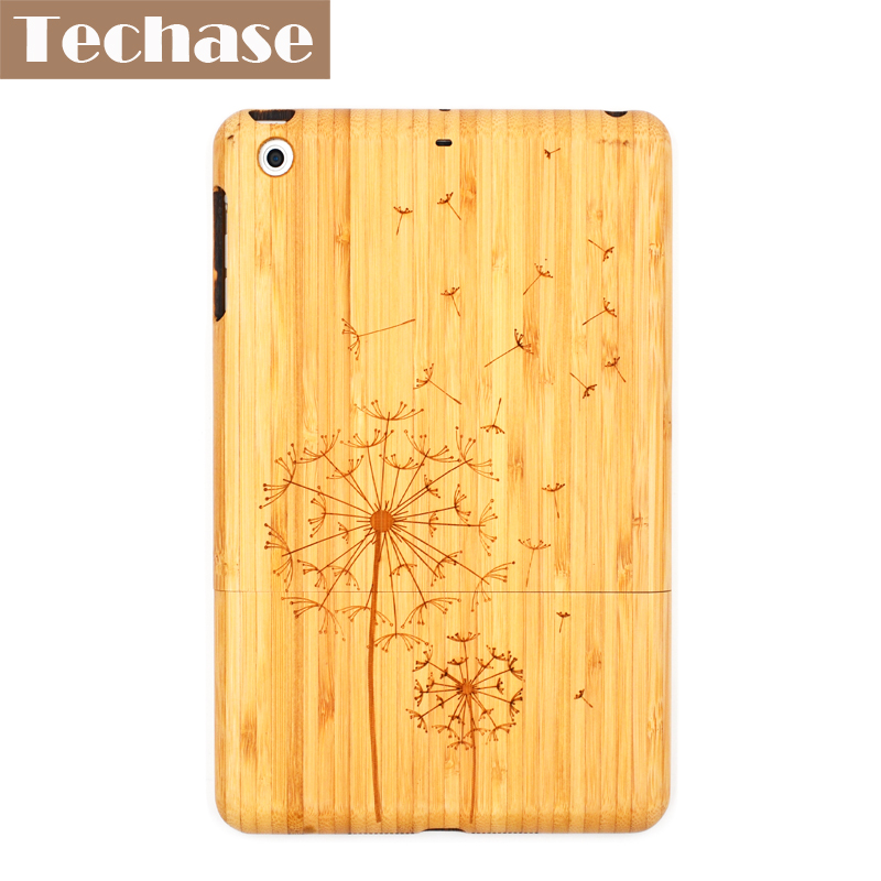 Techase Luxury Bamboo Protective Shell For iPad Mini Case Wooden Shockproof Skin For iPad Mini 1 2 3 Tablet Cases Hard Cover for ipad mini4 cover high quality soft tpu rubber back case for ipad mini 4 silicone back cover semi transparent case shell skin