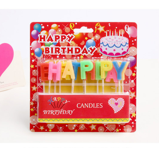 Birthday Candles Happy English Letters Craft Candle Box Set 3 Style Optional Wholesale In From Home Garden On