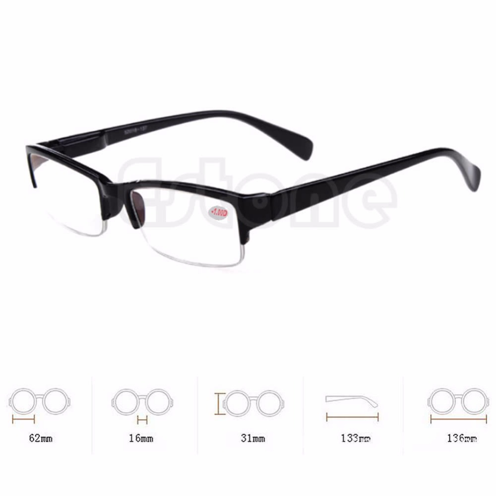 New Black Frames Semi-rimless Eyeglass Myopia Glasses -1 -1.5 -2 -2.5 -3 -3.5 -4