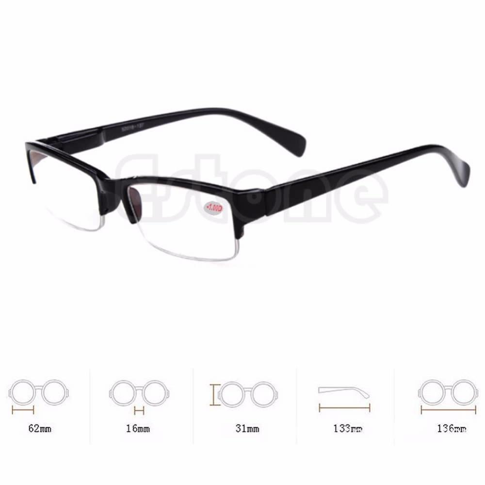 Neue schwarze Rahmen Halbrandlose Brillen-Myopiebrille -1 -1,5 -2 -2,5 -3 -3,5 -4