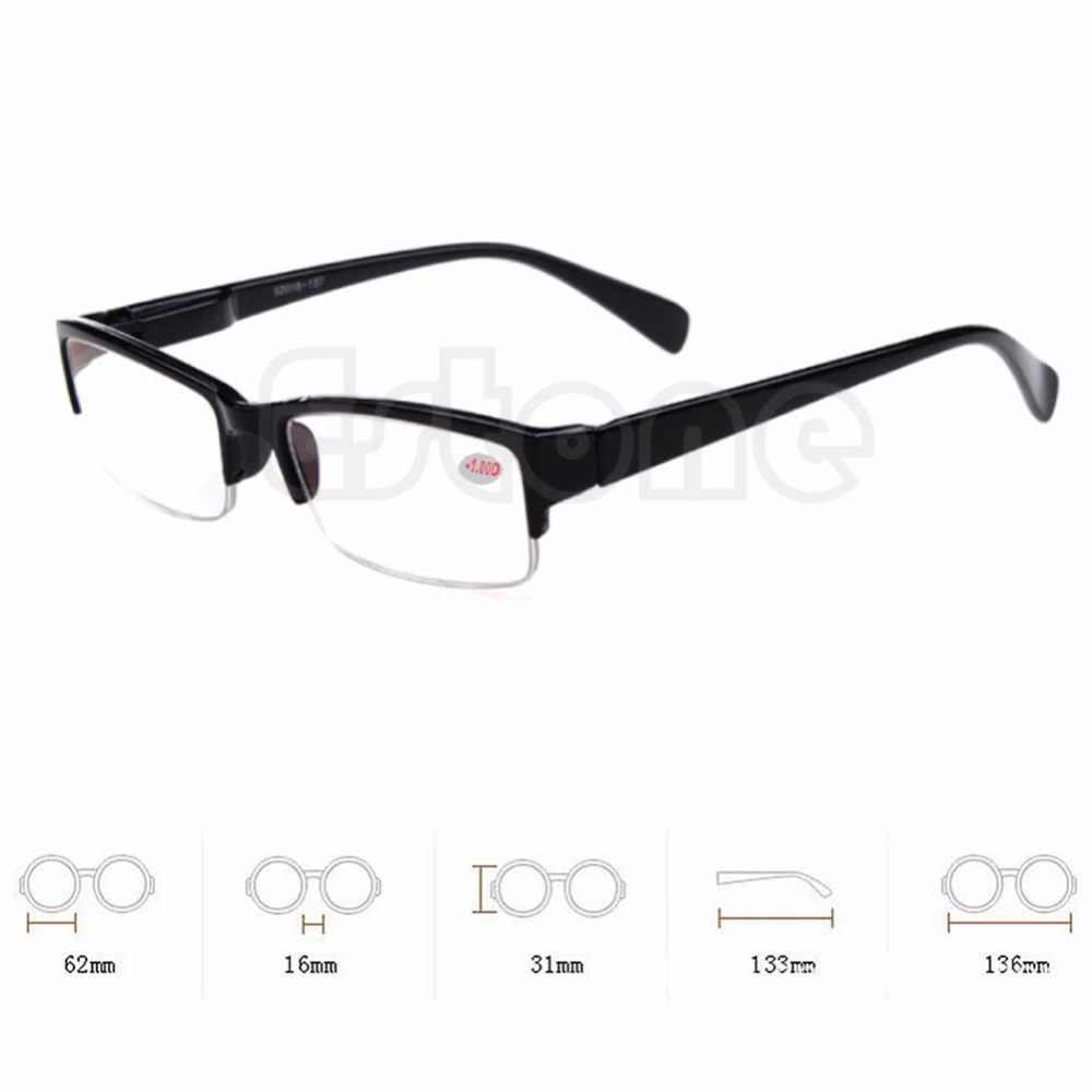 Novo preto quadros semi-sem aro óculos miopia óculos-1-1.5-2-2.5-3-3.5-4