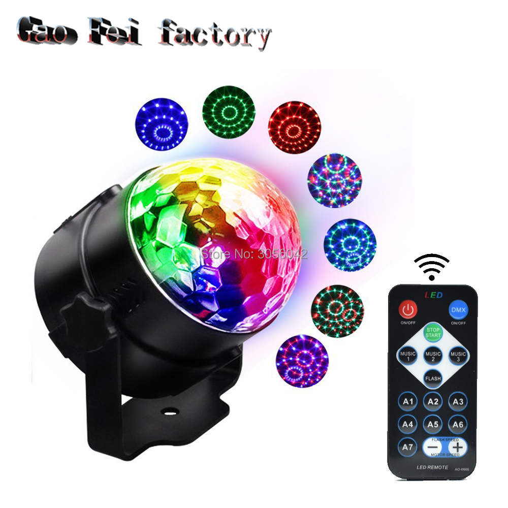 IR Remote Control Led RGB Mini Stage Light DJ KTV Disco Laser Light Magic Crystal Ball Lamp 3W Laser