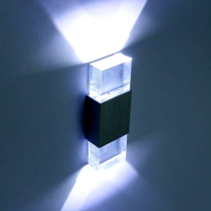 Led Aluminium Acryl Bad Licht Arandela Wandlamp Lamparas De Pared Banheiro Abajur Wandleuchte Luminarias 220 v 6 watt