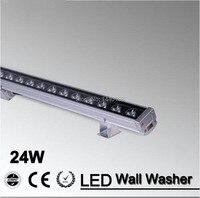 6 قطعة/الوحدة أدى الجدار غسالة ضوء 24 واط 1000 ملليمتر * 46*46 ملليمتر ac85-265v ip65 للماء rgb حديقة ضوء إضاءة خارجية