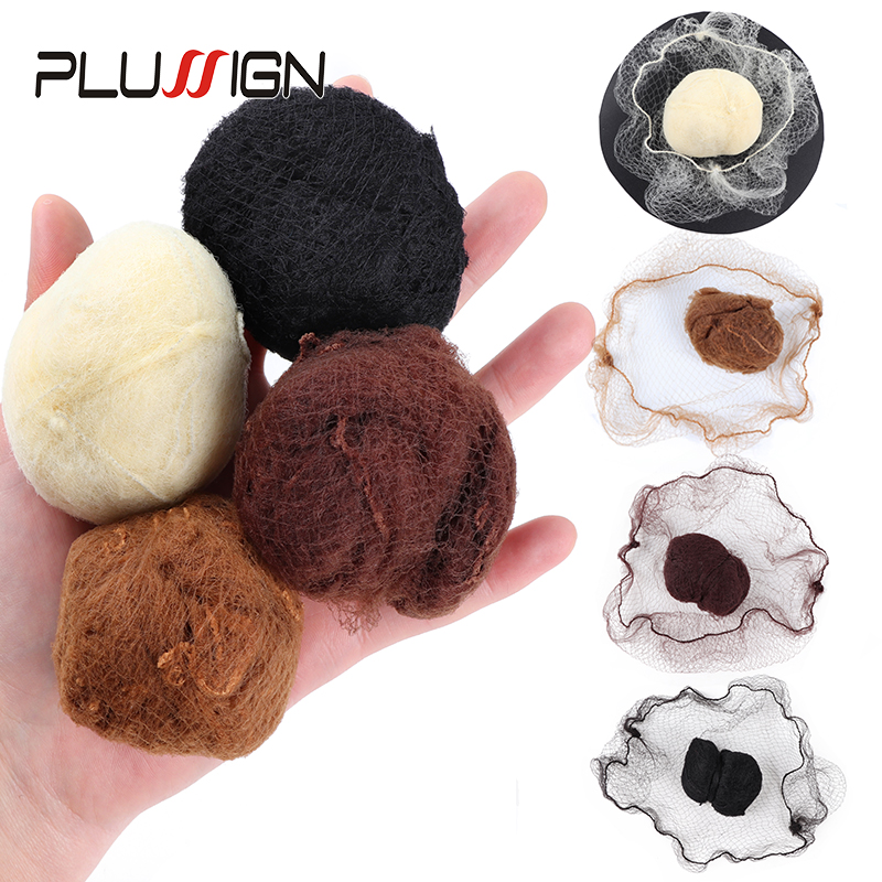 Plussign 20 Pcs/Lot Top Nylon Net Star Dance Recital Buns / Hair Extension Weaving Cap Brown Black Beige Color