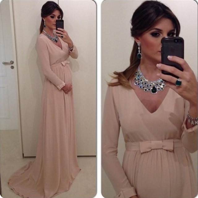 Robe soiree grossesse manche longue