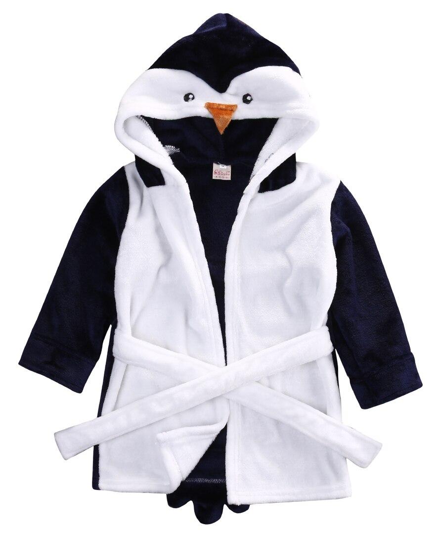 2016 Winter Warm Cute Infant Baby Girl Boy Hooded Bath Towel Wrap Bathrobe Bathing Blanket Throws Robes