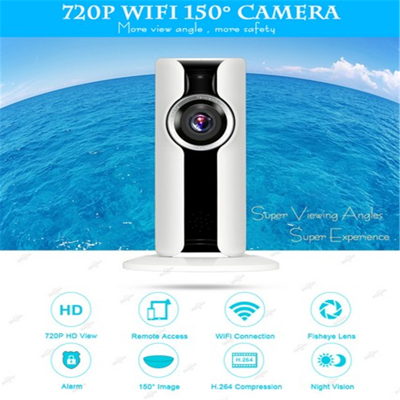 IP Camera Wifi 720P HD Wireless Fisheye Panoramic Camera P2P Night Vision CCTV Home Network Security Camera Surveillance Webcam