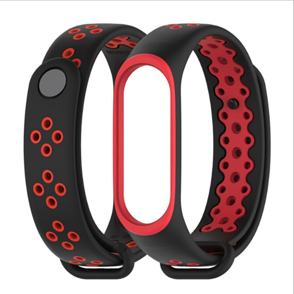 Image 5 - Sport Mi Band 3 4 Strap wrist strap for Xiaomi mi band 3 sport Silicone Bracelet for Mi band 4 3 band3 smart watch bracelet-in Smart Accessories from Consumer Electronics
