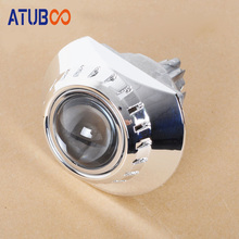 2pcs/Lot 3 Hid Projector Lens Shroud Koito Q5 Cover Small Cut Section Chrome Mask E46 headlight Shell car styling