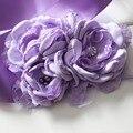 Мода Сжечь цветок створки пояса женщин пояса дети девушка sash пояс Свадебные створки Пояса Фиолетовый Лаванды 1 шт.