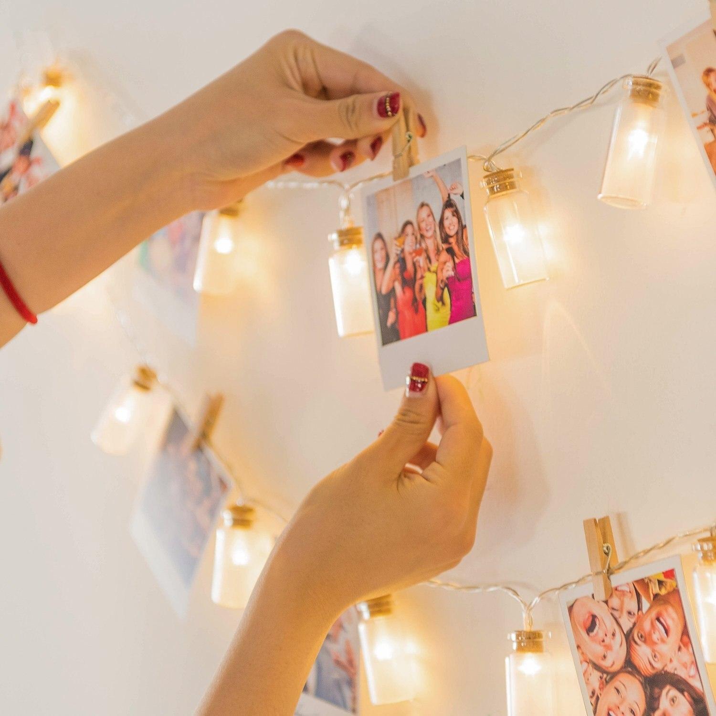 Glass Wish Bottle 20 LED String Lights Battery Fairy Christmas Light Chain Luminaria Kids Night Light Bedroom Decoration Garland