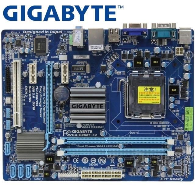GIGABYTE GA-G41MT-S2 Máy Tính Để Bàn Bo Mạch Chủ G41 Ổ Cắm LGA 775 Cho Core 2 DDR3 8G Micro ATX Ban Đầu Được Sử Dụng G41MT-S2 Mainboard