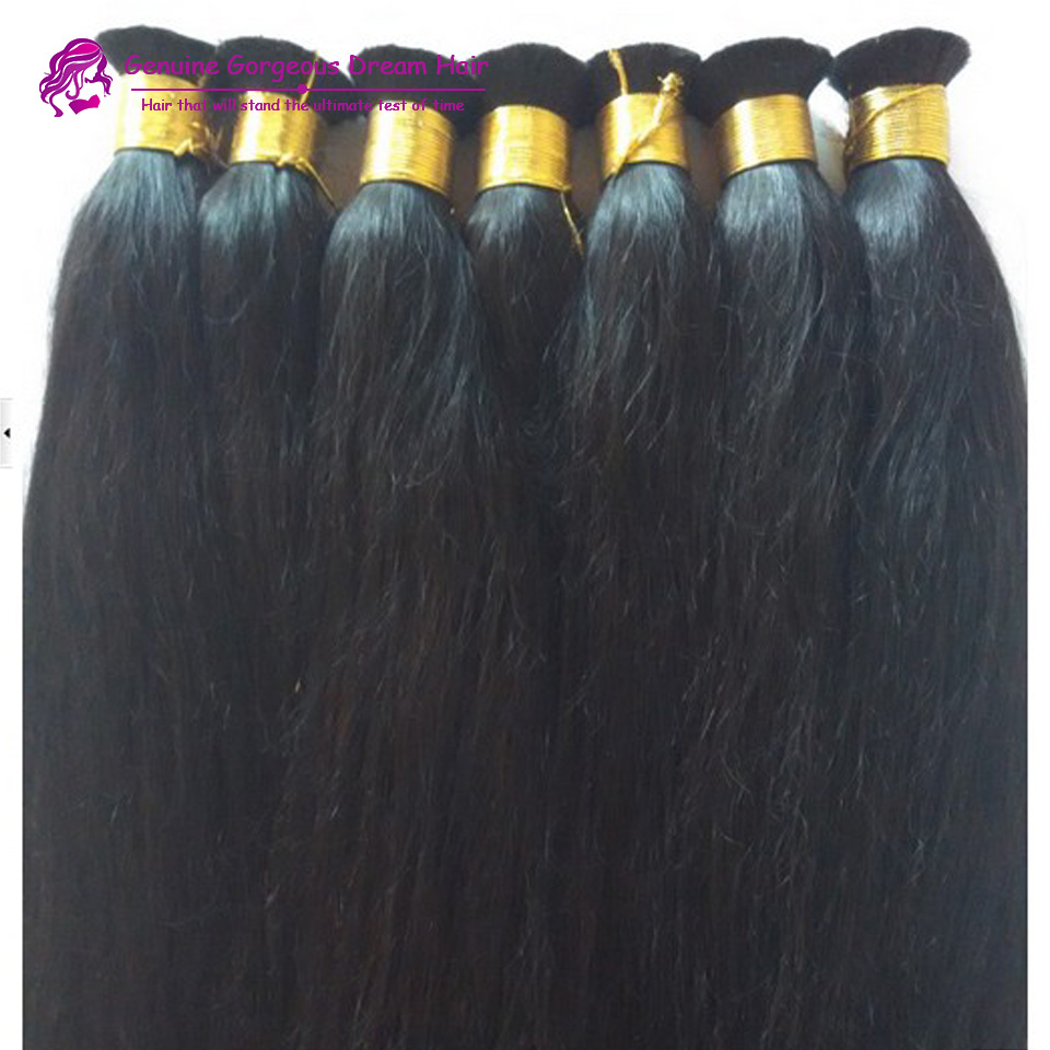 3Pcs/lot 7A Brazilian Virgin Hair Braiding Bulk Human Braiding Hair Bulk straight hair Cheap Brazilian Hair Bulk
