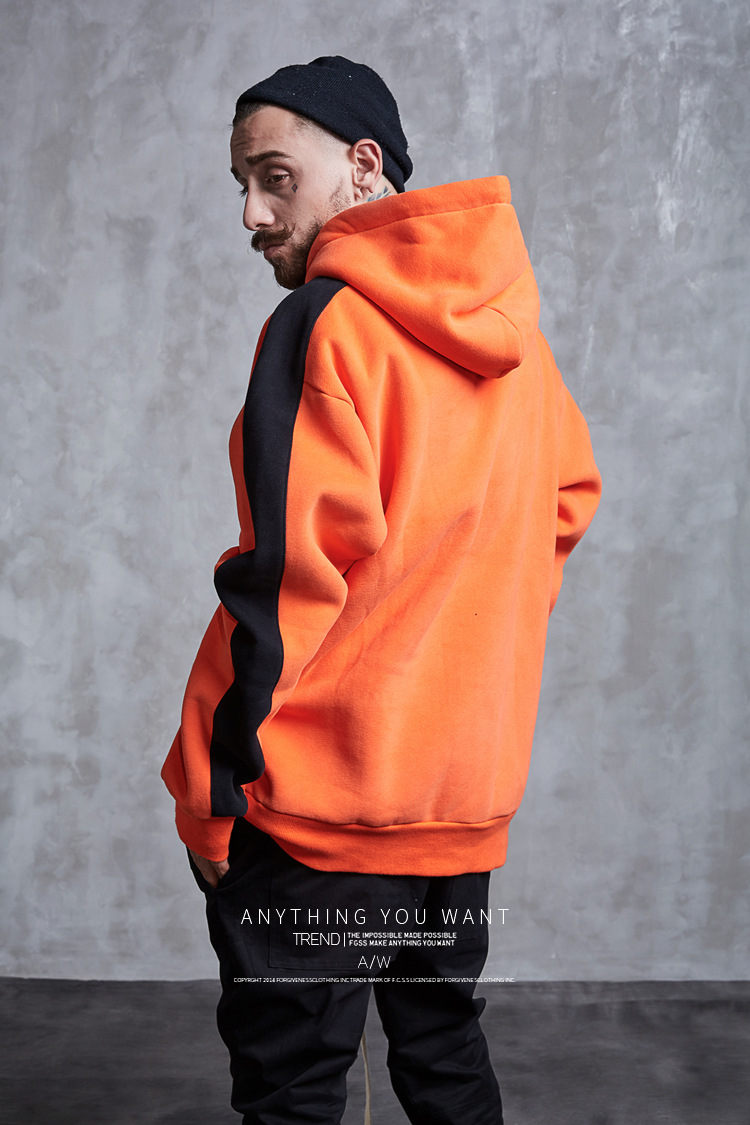 Aolamegs Hoodies Men Side Striped Hood High Street Pullover Cotton Fashion Hip Hop Streetwear Casual Big Pocket Hoodie Autumn (16)