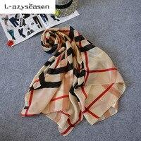 L Asyseason 2017 180 90 CM Scarf Luxury Women Girl Brand Fashion Silk Scarf Women Shawl