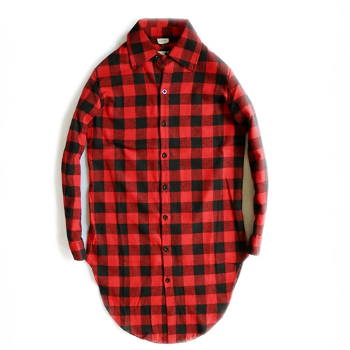 Camisa Social Masculina Camiseta весна и осень Han версия длинных мужских рубашек с длинными рукавами для женщин - Цвет: Красный