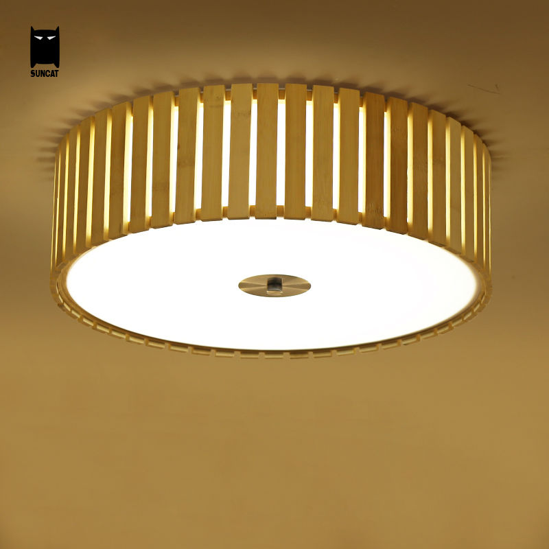 LED Bamboo Round Ceiling Light Fixture Modern Nordic Minimalist Tatami Japanese Style Plafon Lamp Luminaria Study Room Bedroom noosion modern led ceiling lamp for bedroom room black and white color with crystal plafon techo iluminacion lustre de plafond