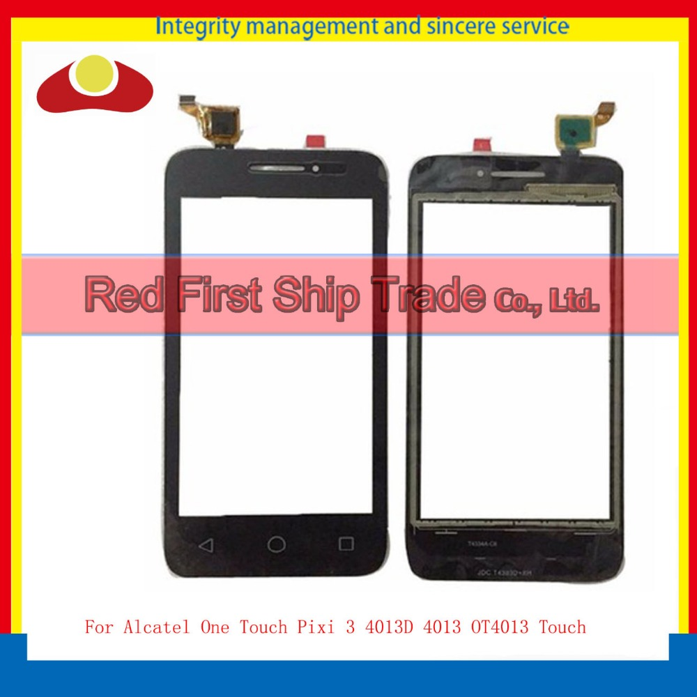 High Quality 4.0 For Alcatel One Touch Pixi 3 4013D 4013 OT4013 Touch Screen Touch Panel Digitizer Sensor Outer Glass Lens