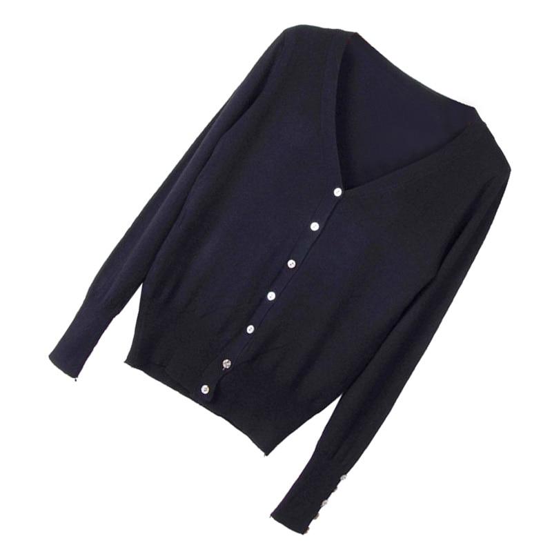 MAKE Hot Womens Cardigan Knitting V-neck Long sleeves Sweater coat