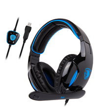 SADES SNUK Professional Virtual 7.1 Surround Sound Headphone Headphones Wired E-Sport Gaming Headset for Gamer