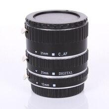 Металл Маунт Автофокус AF Макрос Удлинитель/Кольцо для Kenko Canon EF-S Объектив серебристого цвета