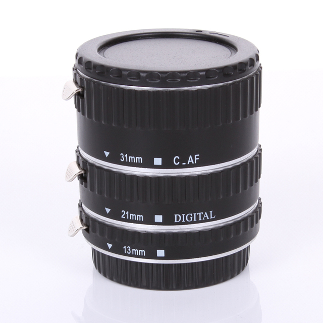 Metal Mount Auto Focus AF Macro Extension Tube/Ring for Kenko Canon EF-S Lens silver color