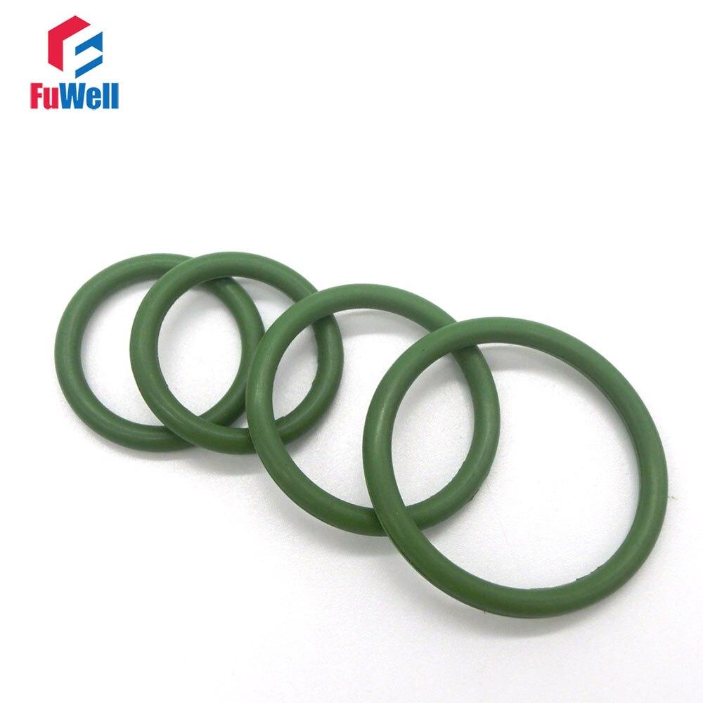 20pcs 2mm Thickness Green Viton O Ring Seals 5/6/7/8/9/10