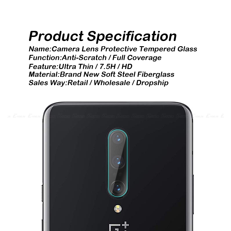 Image 3 - Back Camera Lens Clear Tempered Glass For One Plus OnePlus 7 7T Pro 5G 6T 6 5T 5 2 3T 3 X A6010 Screen Protector Protective Film-in Phone Screen Protectors from Cellphones & Telecommunications