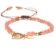 Pink Crystal Woven Female Bracelet Friendship Lucky Bracelet Hot Selling Europe and the United States Popular Handmade Jewelry цена 2017