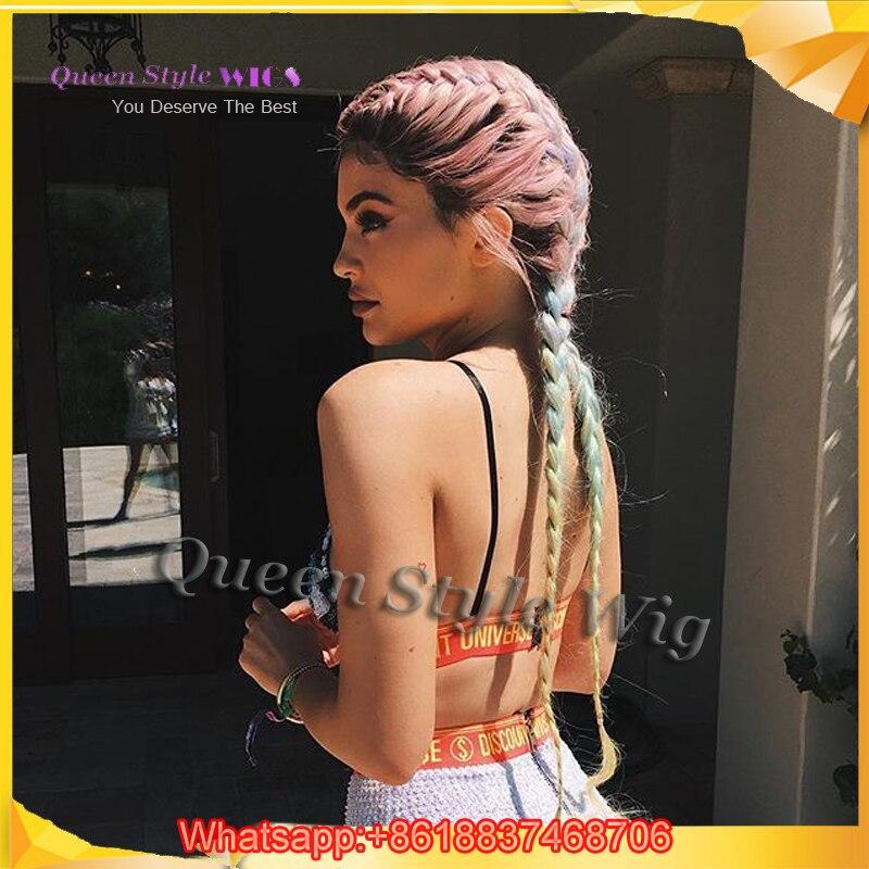 Actual Picture Show Celebrity Kylie Jenner Double Dutch Braids