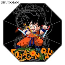 P # Dragon Ball Z 04 Paraplu Custom Printing Opvouwbare Zon Regen Paraplu Reis Niet Automatische Decoratieve Hoogwaardige Paraplu