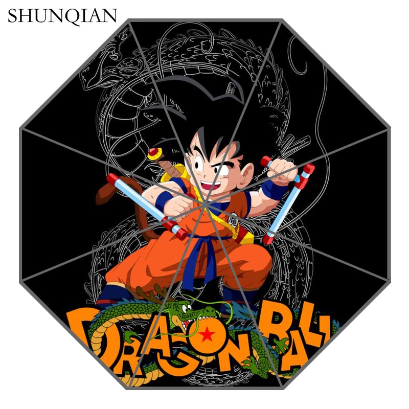P# Dragon Ball Z 04 Umbrella Custom Printing Foldable Sun Rain Travel Umbrella Non-Automatic Decorative High-Quality Umbrella