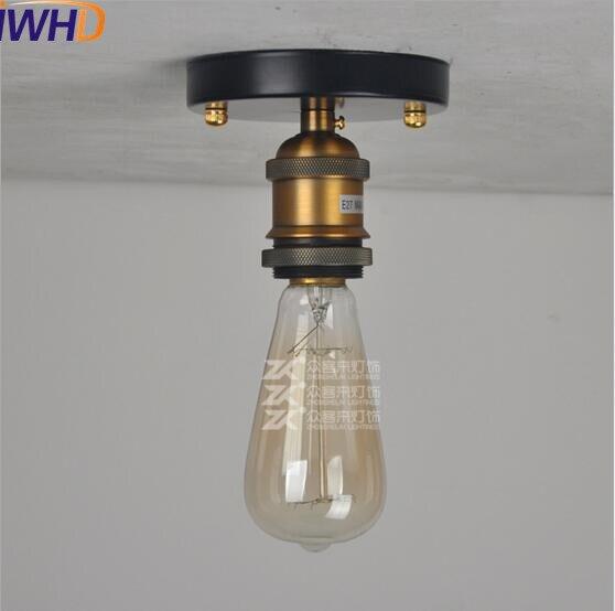 IWHD стеклянный Лофт промышленный потолочный светильник Эдисона, светодиодный светильник для гостиной, плафон, Ретро винтажный потолочный светильник - Цвет корпуса: 1