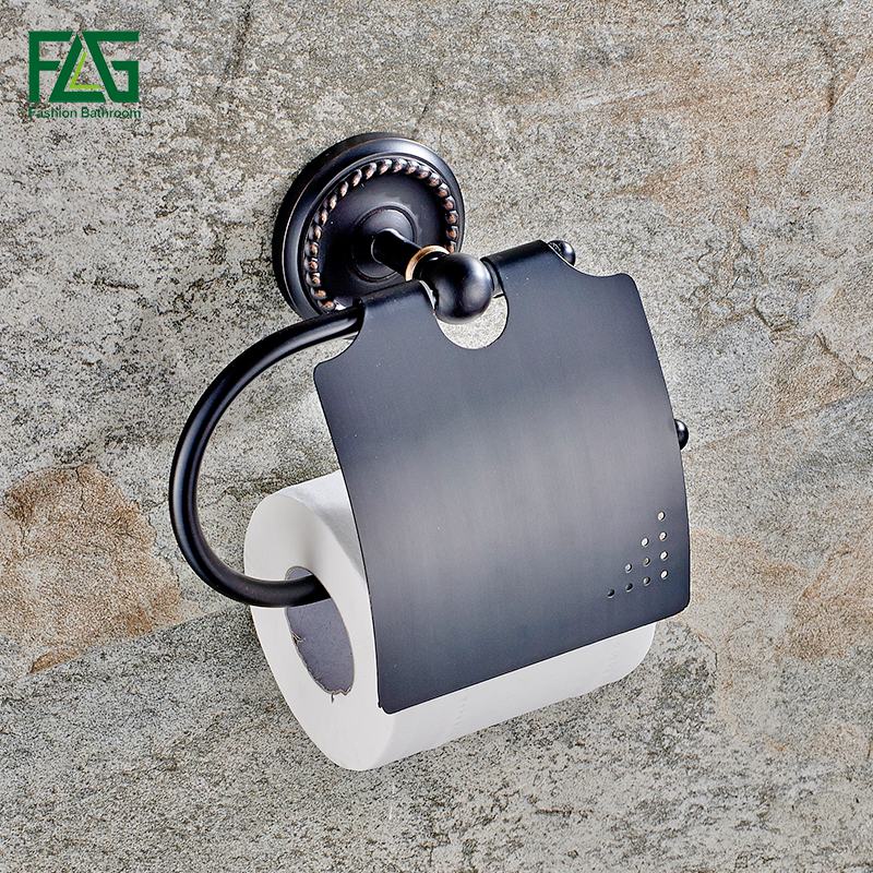 FLG New Arrival Bath Hardware Paper Box Roll Holder Toilet Oil Rubbed Bronze Paper Holder Tissue Box Bathroom Accessories 80106 oil rubbed bronze toilet paper holder wall mount tissue box