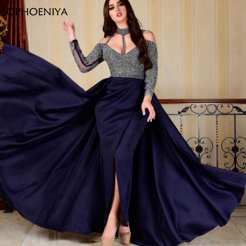 New Arrival Long sleeve   evening     dresses   2019 Robe de soiree abiye Muslim   evening     dress   ever pretty Formal   dress