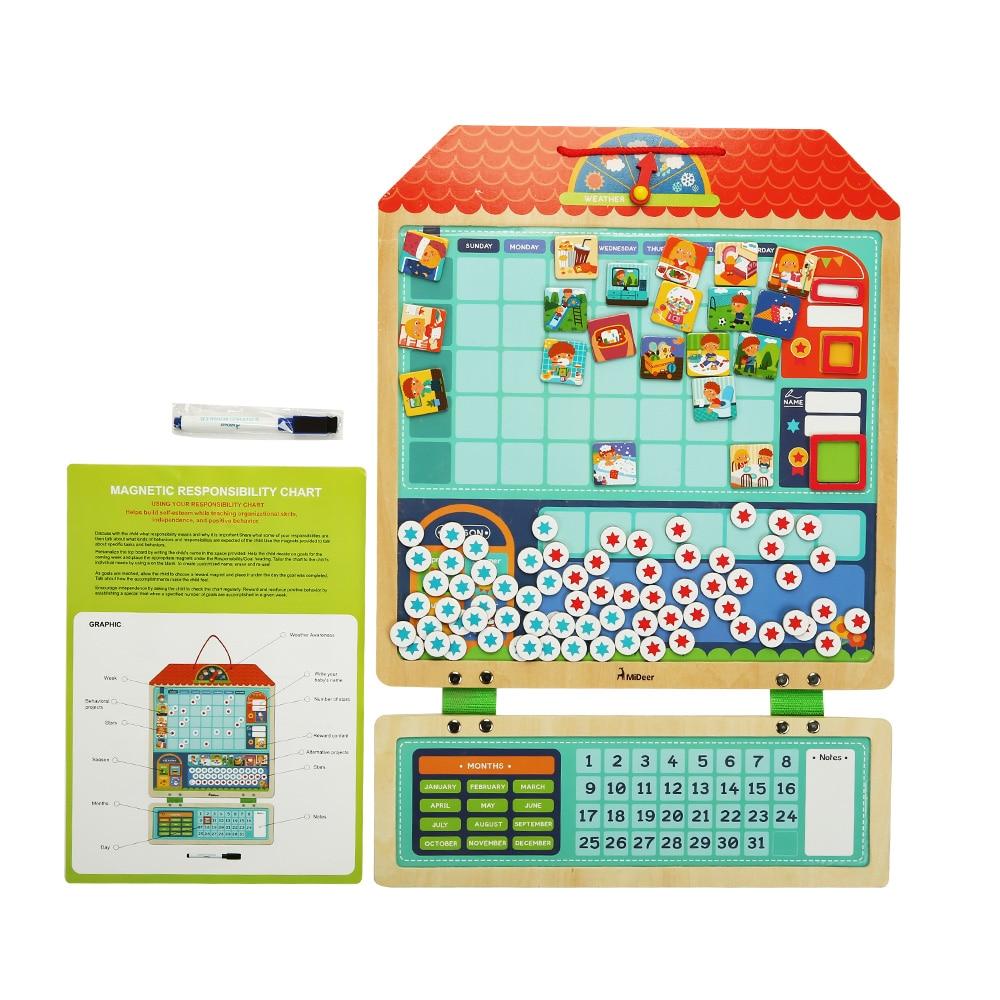 3D Puzzles Jouet Montessori Magnétique Tableau des Responsabilités Calendrier Calendrier Jouets Éducatifs pour Enfants Cadeau D'anniversaire Puzzle